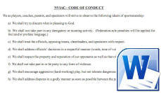 Code of Conduct Placard