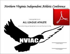 NVIAC All League Certificate Template - PDF Format